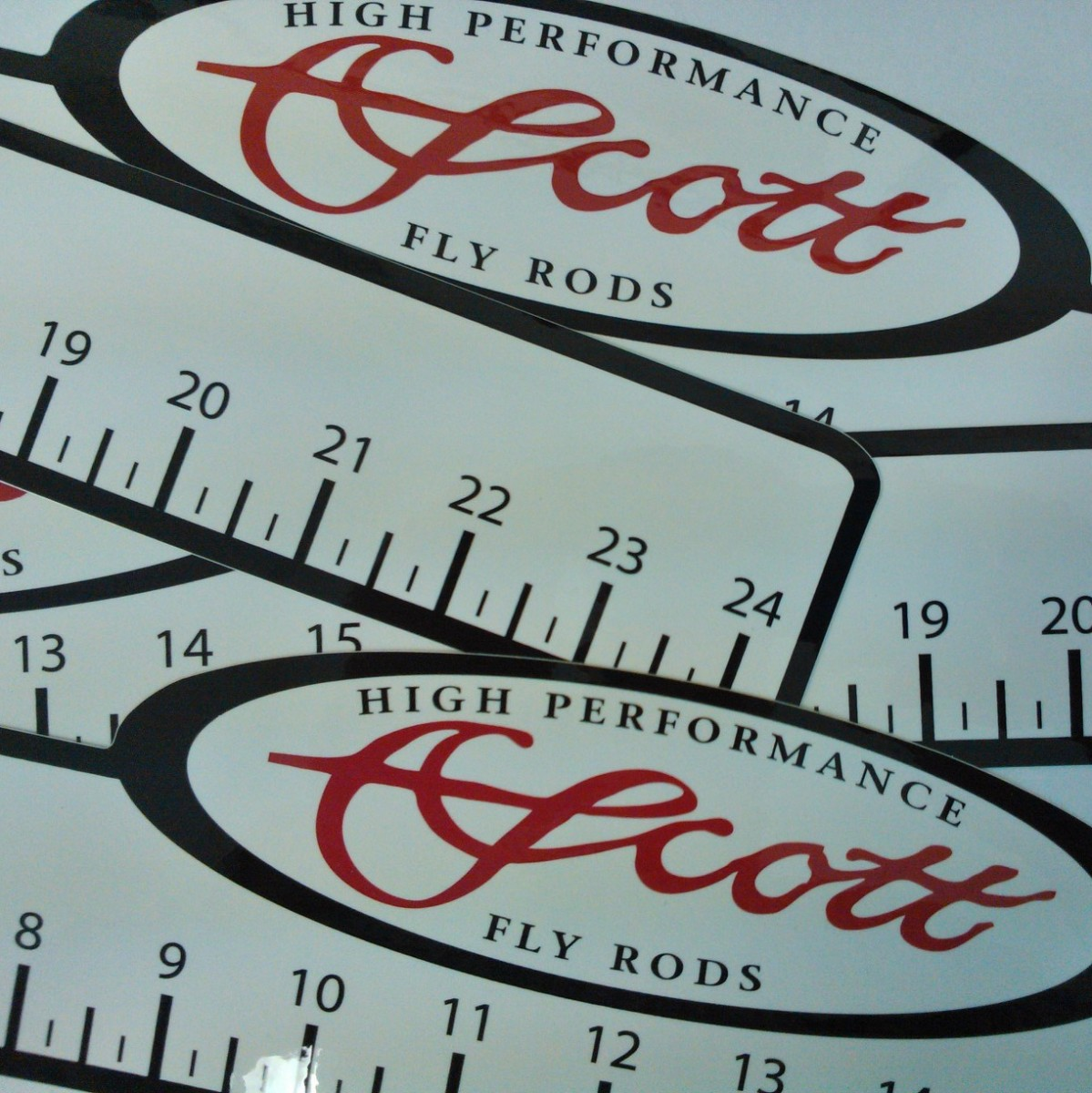 SCOTT RULER DECAL