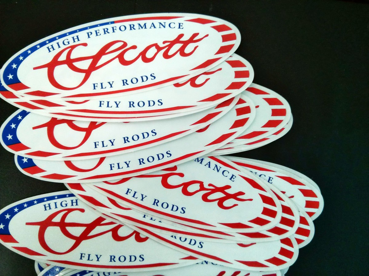 SCOTT AMERICAN OVAL DECAL