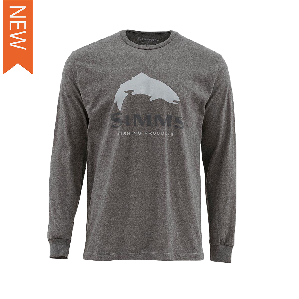 TROUT LOGO LS TEE
