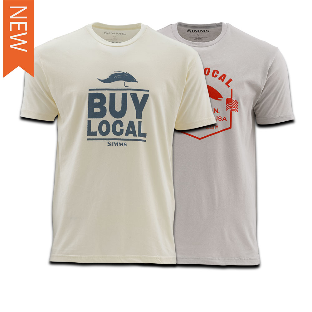 BUY LOCAL SS TEE - TROUT/SALT