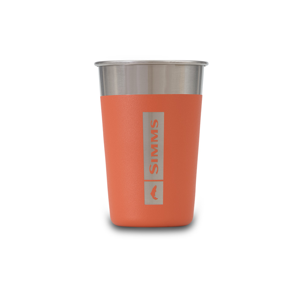HEADWATERS STAINLESS PINT GLASS